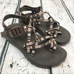 Chaco ZX/2 Classic Sandals Brown Stripe Sz 7